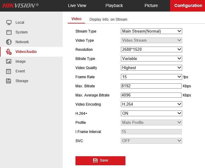 hikvision settings